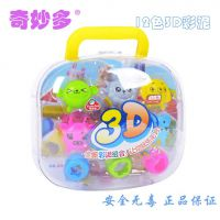 奇妙多正品12色3D超轻彩泥套装 儿童益智玩具批发 附送模型8929