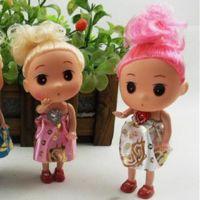 12CM大头迷糊娃娃 新款蝴蝶结娃娃 情人节包裹花束娃娃批女孩玩具