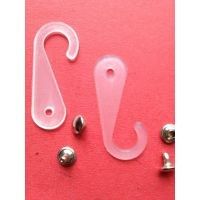 塑料耳朵挂钩、铆钉小吊钩、透明塑料纸牌挂钩太阳帽吊钩4.4*1.7