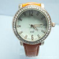 生产订制热卖新款滴胶玫瑰金手表 镶钻手表  女表