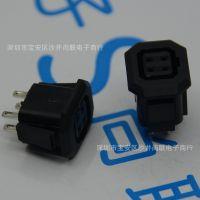 光纤母座 光圈母座4孔黑色 监控安防设备接口 光圈母座4脚