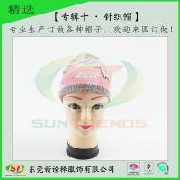 东莞帽厂宝宝保暖帽子 PVC胶章可爱卡通针织毛线帽 婴儿帽子冬季