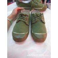 学生军训帆布解放鞋 橡胶底耐磨防滑男士工作鞋 解放鞋男士军绿色