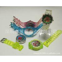 深圳手表厂家 透明塑胶可互替换手表 学生礼品表 礼品手表批发