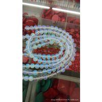 厂家批发 天然国产月光石 蛋白石散珠串珠DIY手链项链材料包