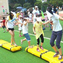 企业户外趣味拓展道具 同舟共济趣味运动会器材 郑州心悦团队比赛项目