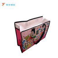 广州PP塑料编织手提袋厂家 出口编织袋行李袋图片印刷