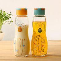 厂家直销  玻璃杯  三月物语玻璃水杯  韩版透明杯提手水杯批发