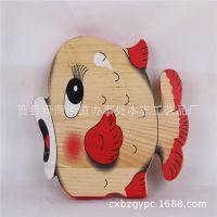 2015春节地摊年货热卖木质工艺车挂件 创意小鱼造型木质挂件定做