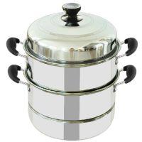 厂家直销不锈钢蒸锅二层单底蒸锅 特厚双层节能多用蒸锅汤锅礼品