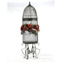 现代鸟笼装饰 欧式田园 铁艺鸟笼工艺鸟笼画眉花篮盆鹦鹉