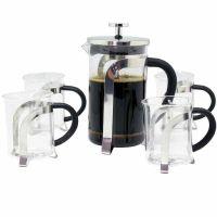 鑫鑫 精致法式滤压壶 咖啡壶冲茶器 5件礼品盒套装D450-4结婚用品