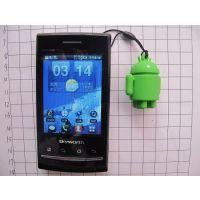 现模生产安卓手机挂件,3D立体安卓吊饰,小绿人人手机屏幕擦