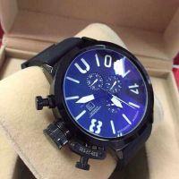 现货批发外贸速卖通爆款瑞士手表 男士三眼左把冠机械手表 军表