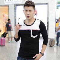 2014潮男长袖t恤 男士打底衫韩版男T恤长袖 男式T恤一件代发
