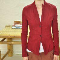 例外江南布衣风格 新女装韩版小西服短款上衣短修身显瘦女士外套