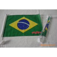 供应世界各国汽车旗 巴西国旗旗帜 厂家直销