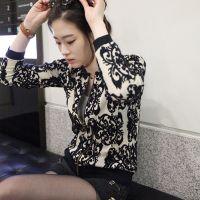 外套秋装2014韩版修身女款打底衫 青花瓷针织衫开衫