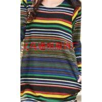 法国羊绒拼接款长袖上衣2014秋装新款出口外贸 法国绒圆领打底衫