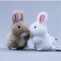 毛绒公仔锁匙手机扣 兔兔玩具工艺车内饰品小白兔情侣礼物挂件