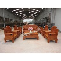 厂家直销东阳红木客厅家具 供刺猬紫檀非洲花梨财源滚滚沙发11件套