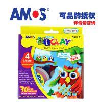 韩国amos儿童超轻质彩色粘土套装 宝宝彩泥橡皮泥安全无毒无味