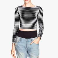 2014短款露脐长袖女T恤 秋装新品长袖打底衫 超短紧身女士长袖t恤