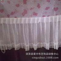 【优质】厂家纱边门帘 粉色 蕾丝线帘 门帘 隔断帘 装饰背景帘