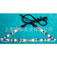 厂家直销帽沿串珠 领口手工串珠 米珠腰带 编织手链 米珠编织饰品