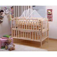 童床批发实木无油漆婴儿床BB摇篮床游戏床宝宝木床送蚊账608