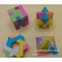 魔方橡皮擦 积木拼图橡皮擦 环保造型 日韩文具批发 可来样定做