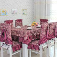 欧美布艺餐桌布 椅子套 餐桌椅台布圆桌布餐桌布艺 厂家直销