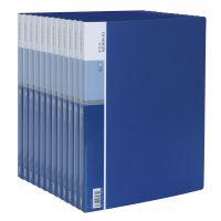 得力(deli) 5003 经济型A4/30页资料册 蓝色 12只装 得力资料册