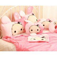 忧伤马戏团忧伤兔单人枕双人枕 抱枕被 三合一暖手抱枕毯