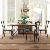 美式loft 复古实木铁艺餐桌椅;电脑桌,餐厅桌椅