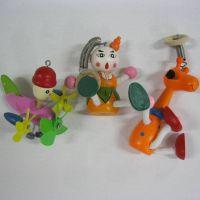 厂家供应木质玩具--弹簧人/挂件玩具/装饰玩具