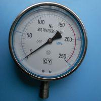 """供应Aisi316½""""BSPPN130Max200C不锈钢压力表(图)"""