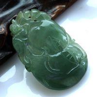 特价促销 老坑A货缅甸翡翠天然玉满绿油青冰种水润葫芦福禄寿挂件