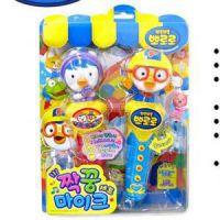 韩国正品小企鹅儿童电子音乐唱歌话筒麦克风玩具立体头2P