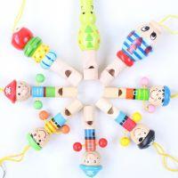 卡通动物小口哨 宝宝木质音乐玩具 饰品挂件 木制玩具 乐器玩具
