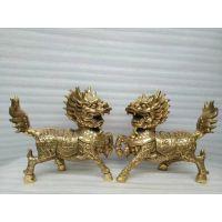 供应定制加工铜雕摆件装饰品麒麟