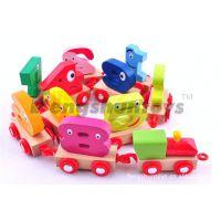 【外贸品质】供应益智玩具 木制玩具火车 数字磁性列车