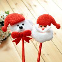 C355 圣诞节婚庆装扮圣诞老人创意圆珠笔圣诞笔 圣诞节礼品