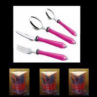 揭阳骏泰不锈钢餐具 新款塑料柄餐具系列 西餐刀叉 不锈钢餐具刀叉勺 开业典礼
