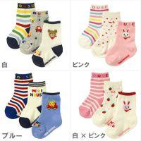 新款日单官网纯棉防滑婴儿袜 宝宝袜 儿童袜子 3双组合袜