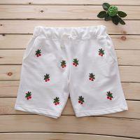 特2014夏季新款 rough 樱桃熟了满身刺绣薄款纯棉三分裤 女装短裤