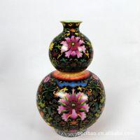 供应定制加工各种陶瓷景泰蓝花葫芦瓶、珐琅彩瓷花瓶礼品