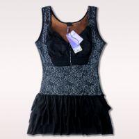 韩之星加绒加厚保暖内衣无袖长款背心时尚蓬蓬裙女士打底衫N866-1
