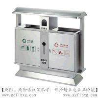 广州方联供应不锈钢分类垃圾桶 不锈钢带灭烟盒垃圾桶