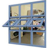 广州厂家专业设计,定做铝合金门窗 铝合金灰色上悬窗